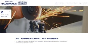 Metallbau Hausmann Relaunch Website
